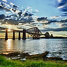 Forth Bridge HDR Sunset by tayforth