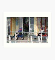 2011 152 0 pointillist zoom Art Print