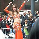 Belly Dancer in Orange by Bernadette Claffey