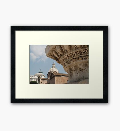 View From The Forum Framed Print