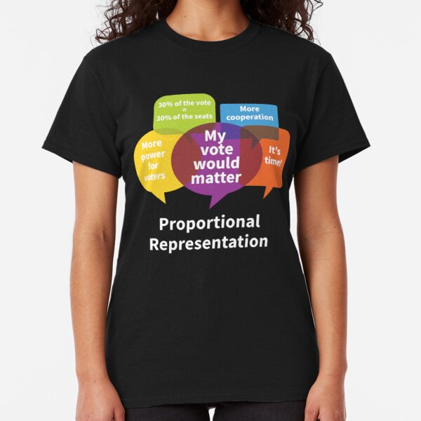 Why proportional representation? For dark background Classic T-Shirt