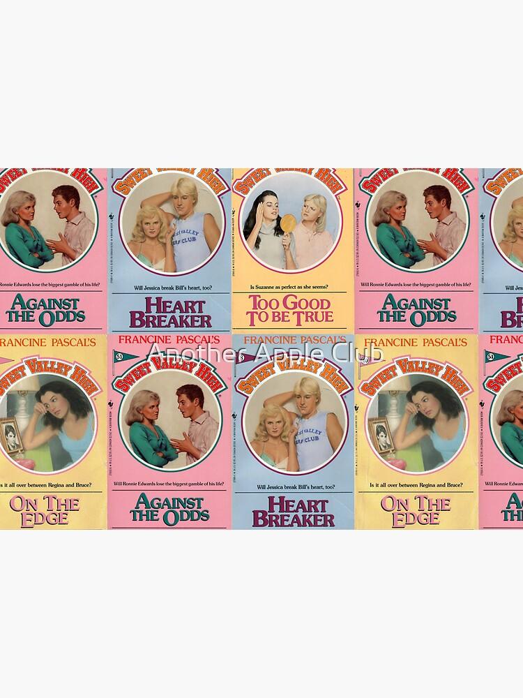 Vintage Sweet Valley High Book Series Covers Pattern by estellef