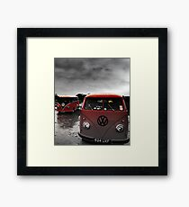 VW Show N Shine Split Screens Framed Print