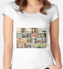 Postcard from Melbourne, Australia Women's Fitted Scoop T-Shirt
