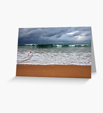 Where the sand meets the sea Greeting Card
