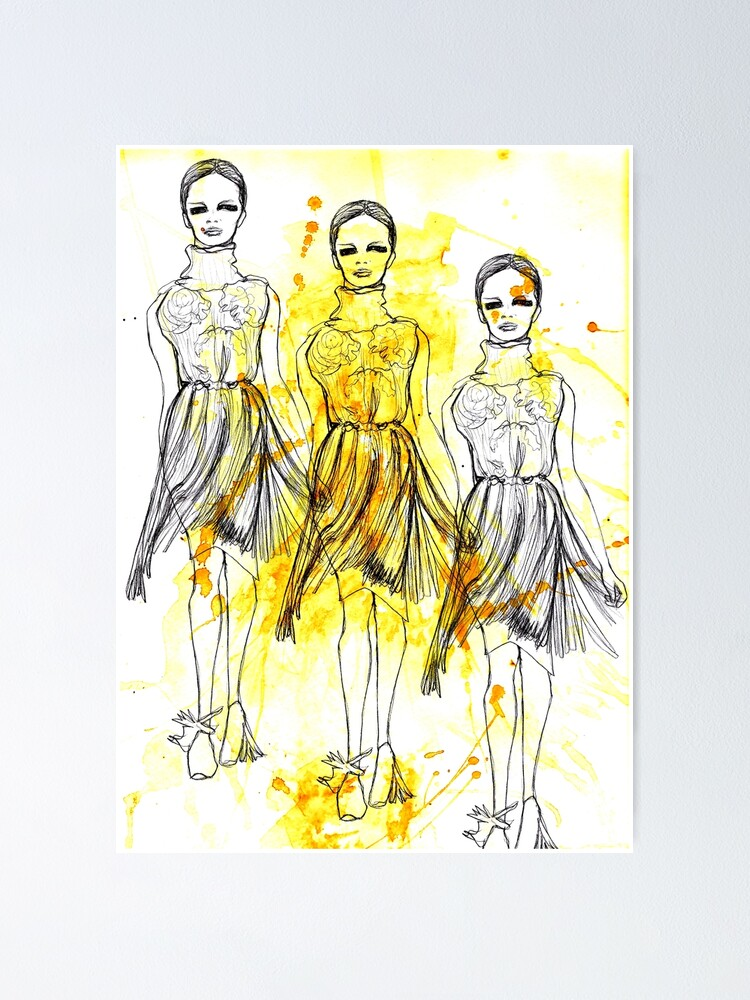 Alternate view of Fashion Triptych Poster