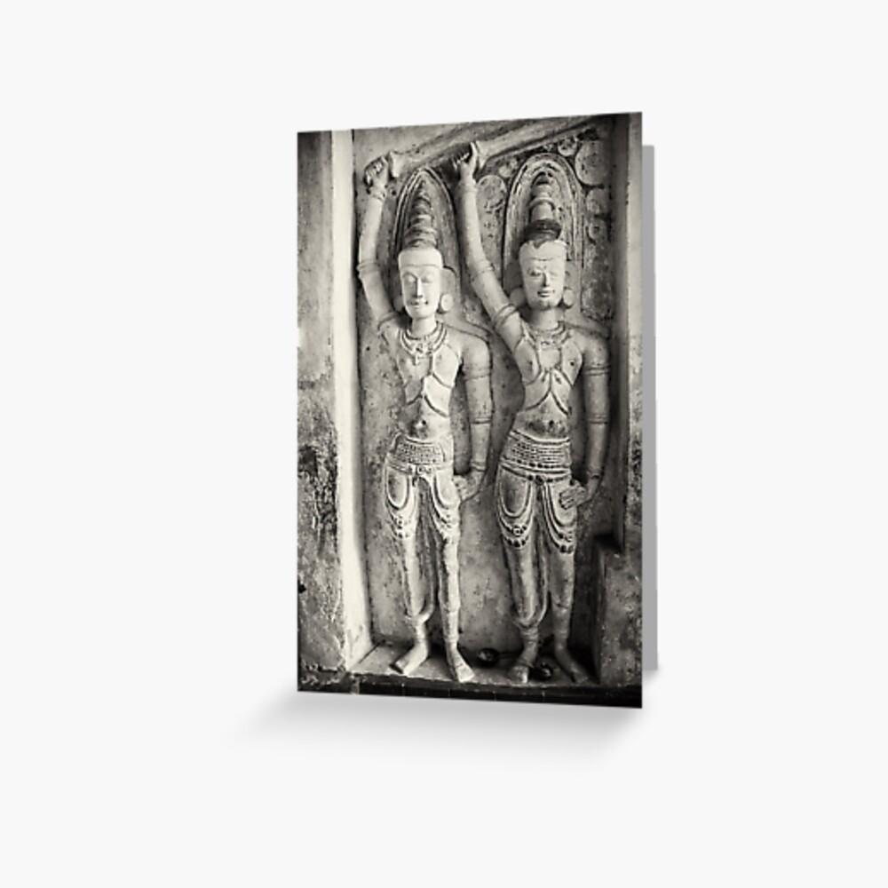 Rock Temple Art - Lankatilaka Temple Greeting Card