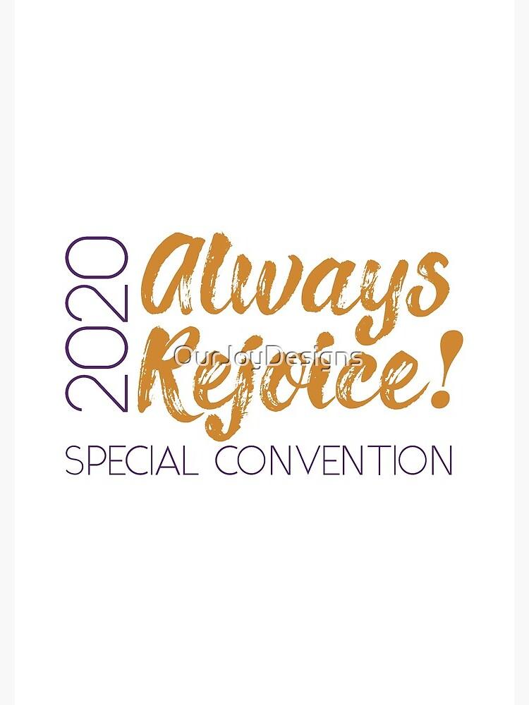 Always Rejoice - Minimalist Purple and Orange by OurJoyDesigns