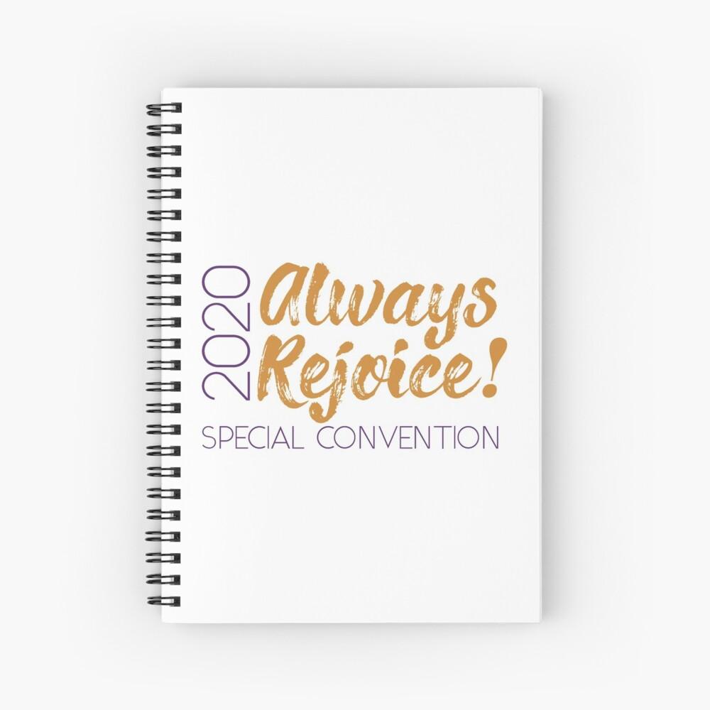 Always Rejoice - Minimalist Purple and Orange Spiral Notebook