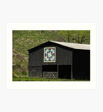 Kentucky Barn Quilt - Snow Crystals Art Print