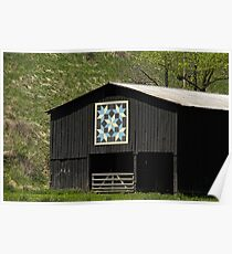 Kentucky Barn Quilt - Snow Crystals Poster
