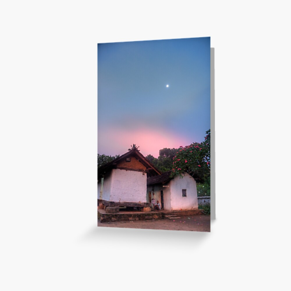 End of the Day - Embekke Temple Greeting Card