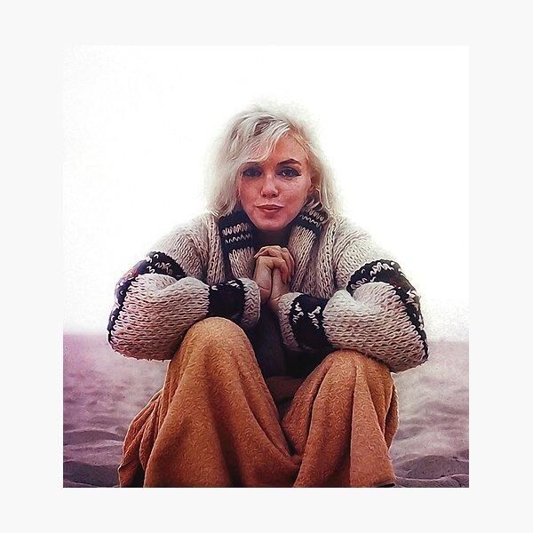 The last photo taken of Marilyn Monroe Photographic Print