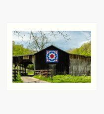 Kentucky Barn Quilt - Carpenters Wheel Art Print