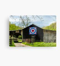 Kentucky Barn Quilt - Carpenters Wheel Metal Print