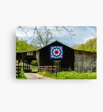Kentucky Barn Quilt - Carpenters Wheel Canvas Print