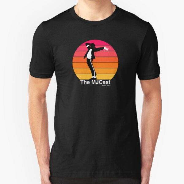 The MJCast Sunset (White Text) Slim Fit T-Shirt