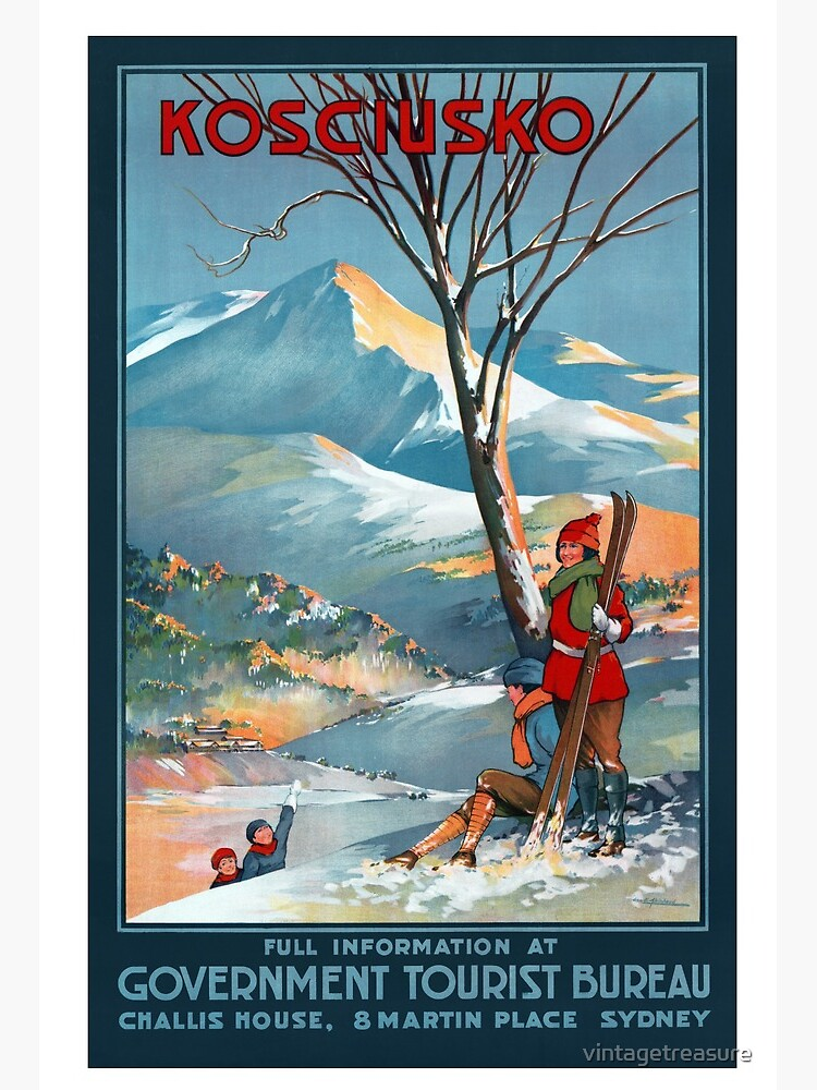 "10x8/"" Vintage Travel poster Brisbane QLD Canvas Print"