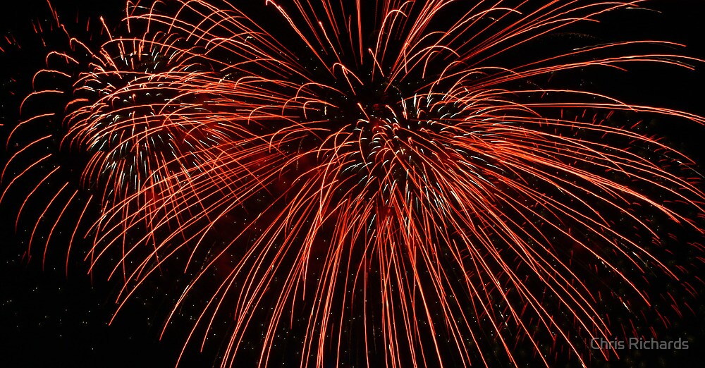 Red Fireworks by Chris Richards