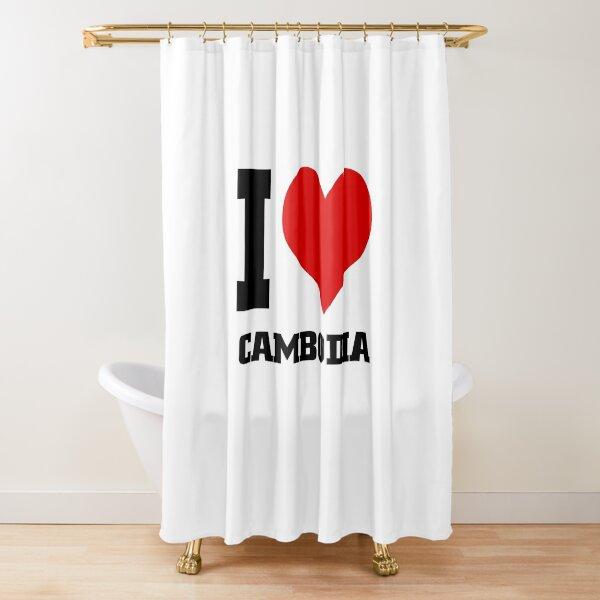 I Love Cambodia Shower Curtain