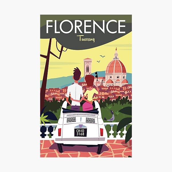 Florence poster Photographic Print