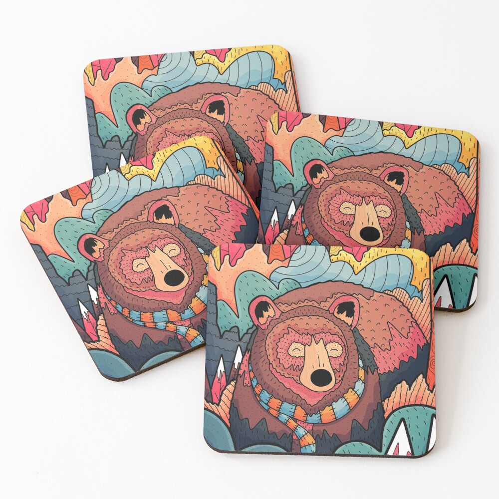 Winter bear forest Coasters (Set of 4)