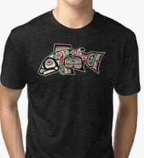 Alaskan Salmon Tri-blend T-Shirt