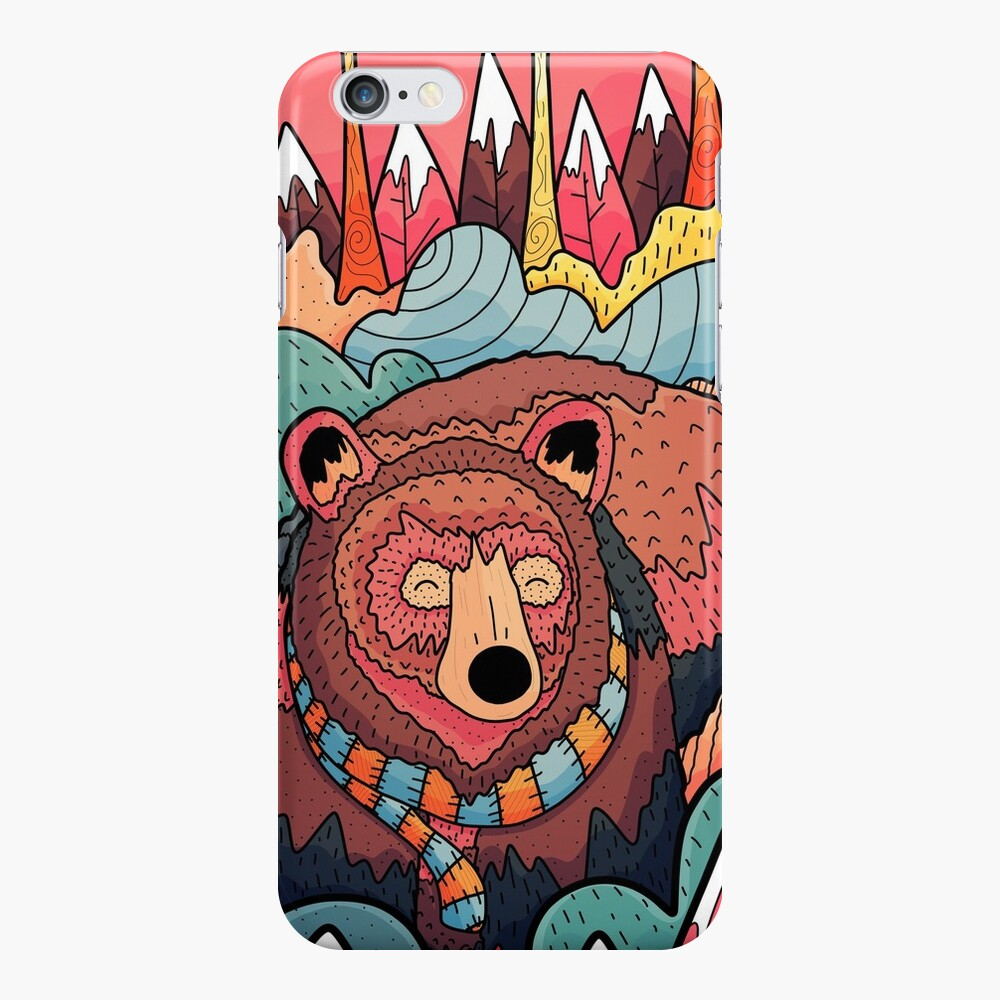 Winter bear forest iPhone Case & Cover