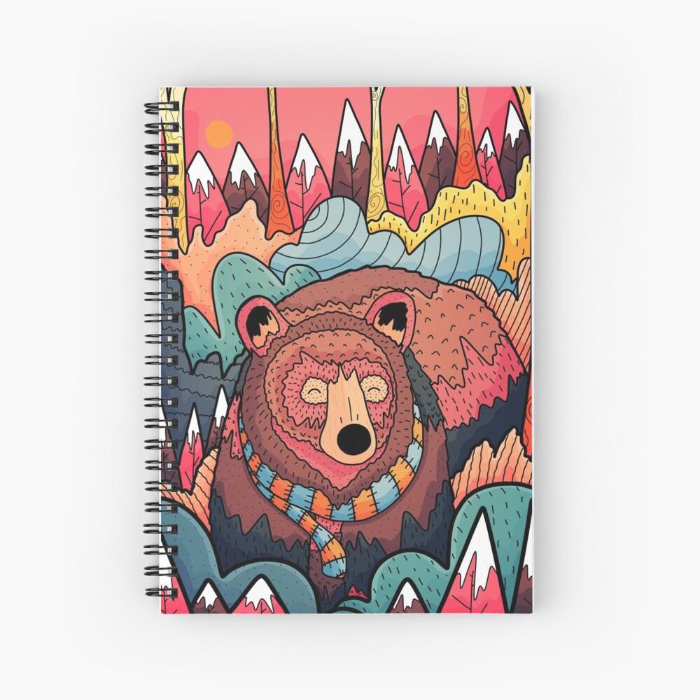 Winter bear forest Spiral Notebook