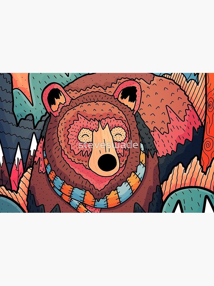 Winter bear forest by steveswade