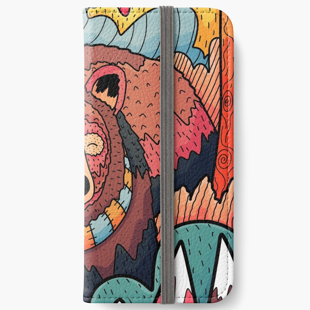 Winter bear forest iPhone Wallet