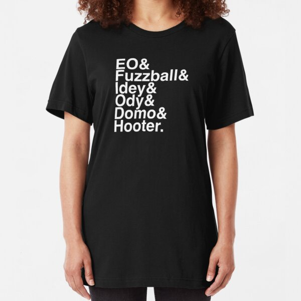 EO in Helvetica (White Text) Slim Fit T-Shirt