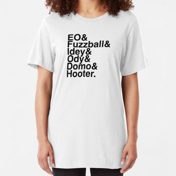 EO in Helvetica (Black Text) Slim Fit T-Shirt