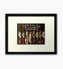 Don't Starve: Who Will You Choose? Framed Print