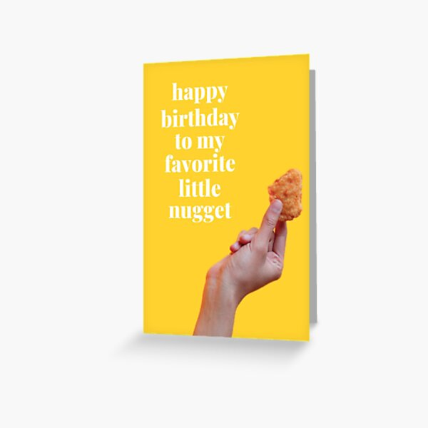Chicken Nugget Birthday Card Greeting Card