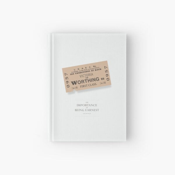 The Importance of Being Earnest - Alternative Movie Poster Hardcover Journal