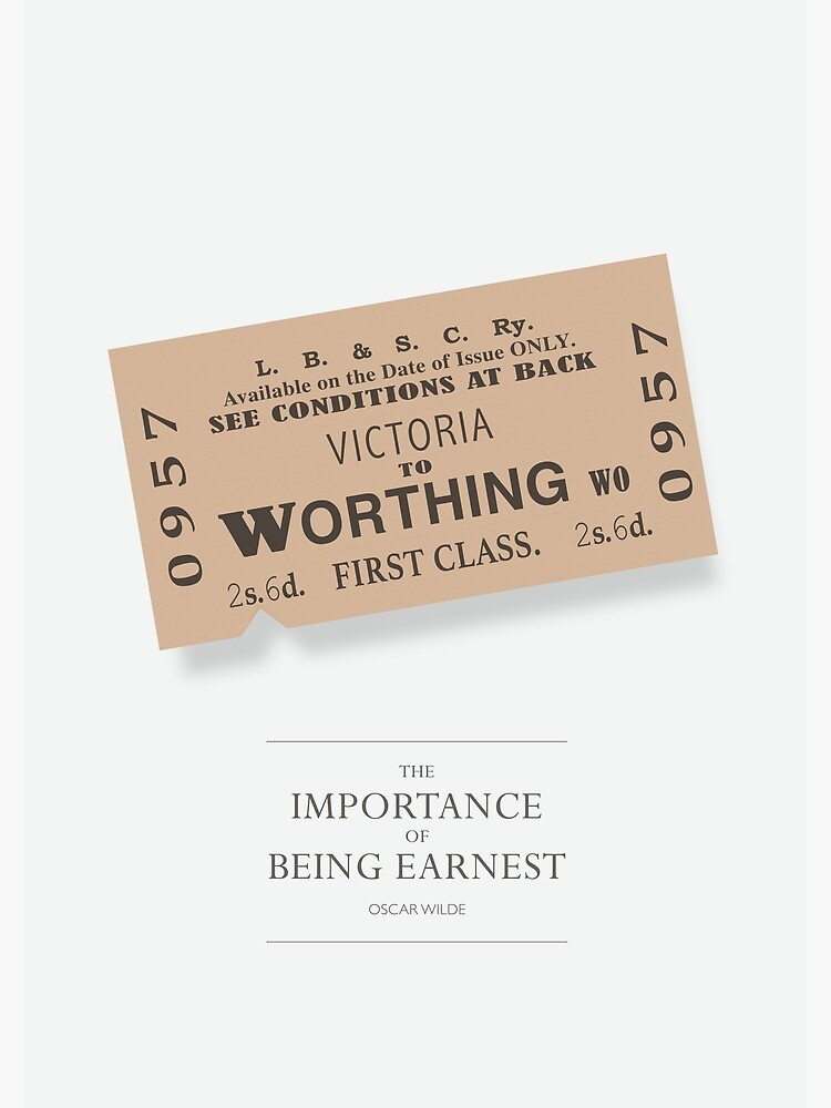 The Importance of Being Earnest - Alternative Movie Poster by MoviePosterBoy