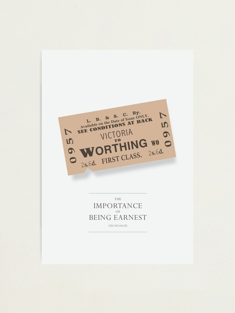 Alternate view of The Importance of Being Earnest - Alternative Movie Poster Photographic Print