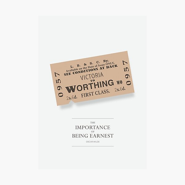 The Importance of Being Earnest - Alternative Movie Poster Photographic Print