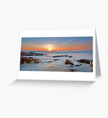 Sunrise on Coolum Greeting Card