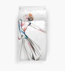 Original Ballet Dance Drawing – Watercolor and Ink on Paper  Duvet Cover