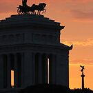 Sunset at Monumento Nazionale a Vittorio Emanuele II  by Samantha Higgs