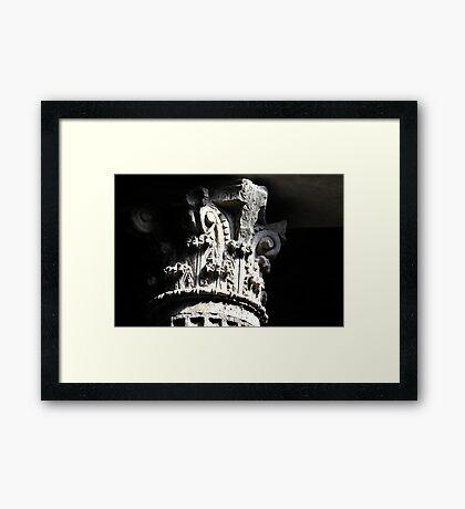 Corinthian Pillar Capital Framed Print