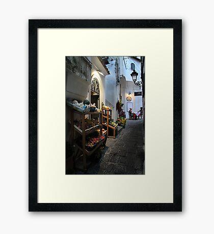 Shop Front - Amalfi Framed Print