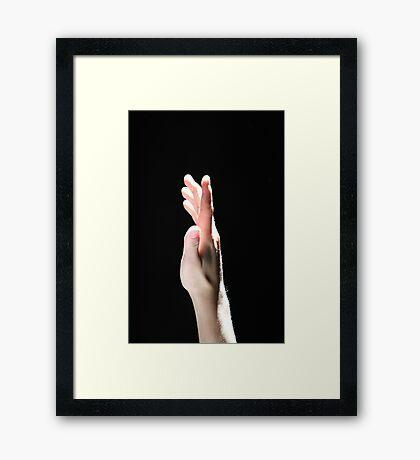 Touching The Light Framed Print