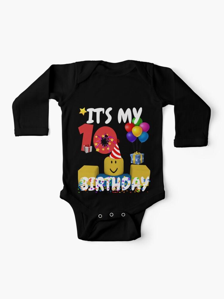 Sudadera Ligera Roblox Oof Juego De Noob De Smoothnoob Body Para Bebe Roblox Noob Birthday Boy It S My 10th Birthday Fun Camiseta De Regalo De 10 Anos De Smoothnoob Redbubble