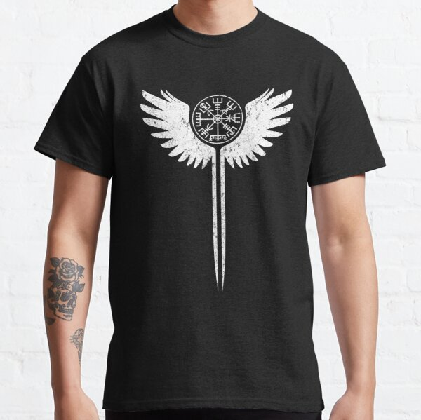 Valkyrie wings and Vegvisir Classic T-Shirt