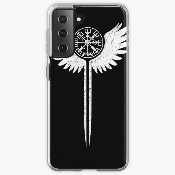 Valkyrie wings and Vegvisir Samsung Galaxy Soft Case