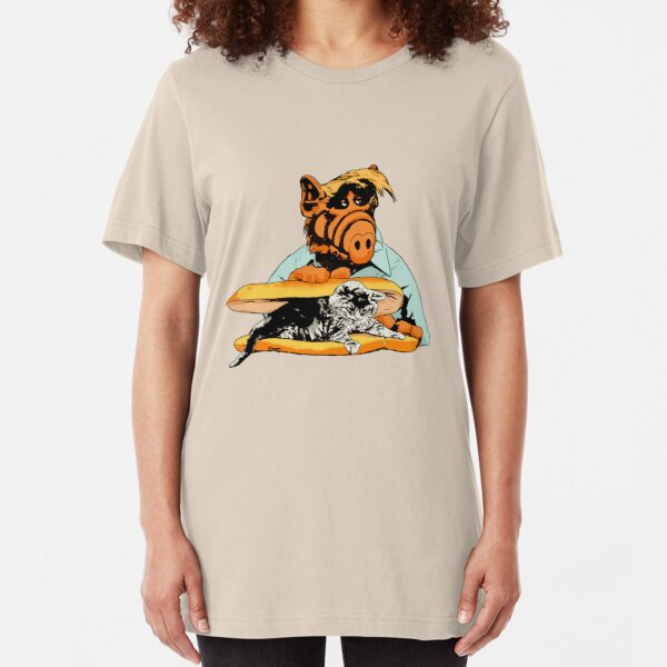 Kitty Sandwich  Alf the extraterrestrial Tv show Slim Fit T-Shirt