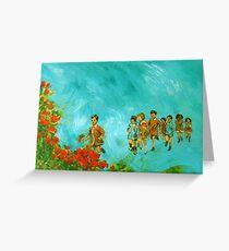 Childhood series - children play - In the kindergarten  Greeting Card
